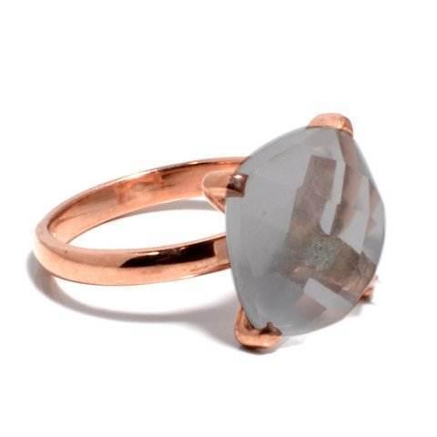 Gray Chalcedony Gemstone Ring