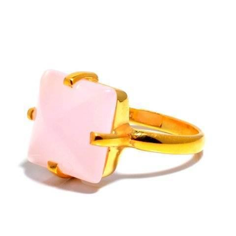 Pink Chalcedony Gemstone Ring