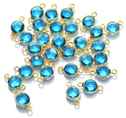 Blue Topaz Gemstone connector
