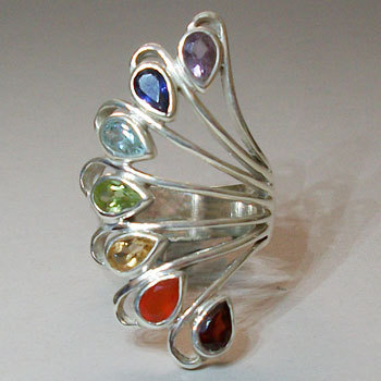 Gemstone Chakra Ring