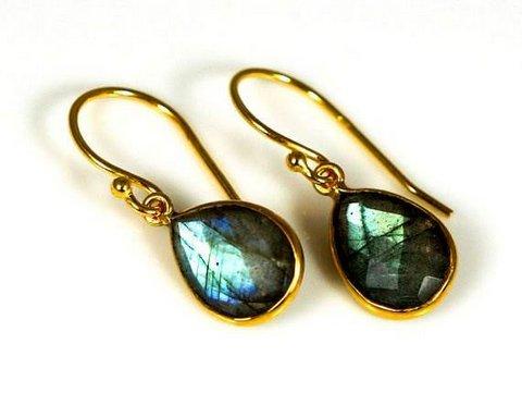 Green Labradorite Gemstone Earring
