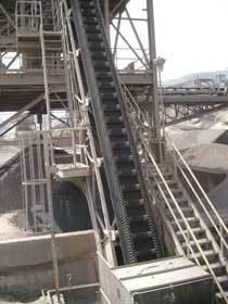 Steep Angle Belt Conveyor
