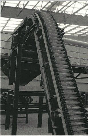 Cleated Angle Belt Conveyor