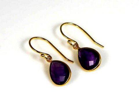 Purple Amethyst Gemstone Earring