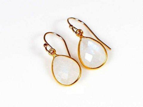 Rainbow Moonstone Gemstone Earring