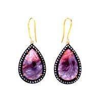 Multi Sapphire/Zirconia Gemstone Victorian Earring