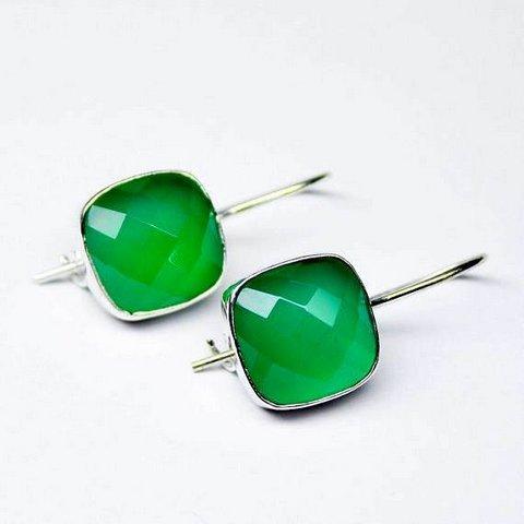 Green Onyx Gemstone Men's Cufflinks