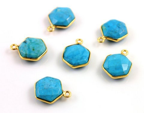 Turquoise Gemstone Connector