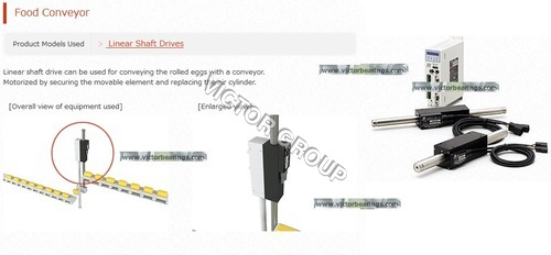 Linear Shaft Drive for food production equipments