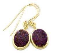 Natural Druzy Gemstone Earring