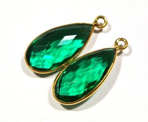 Green Tourmaline Gemstone Connector