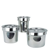 Vegetable Insert Pot with Lid, SS