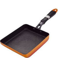 Japanese Egg Frypan, Non Stick, Orange