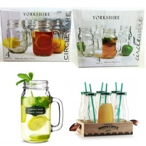 Country Milk Bottles with Yorkshire Mug