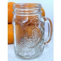 Rooster Drinking Jar