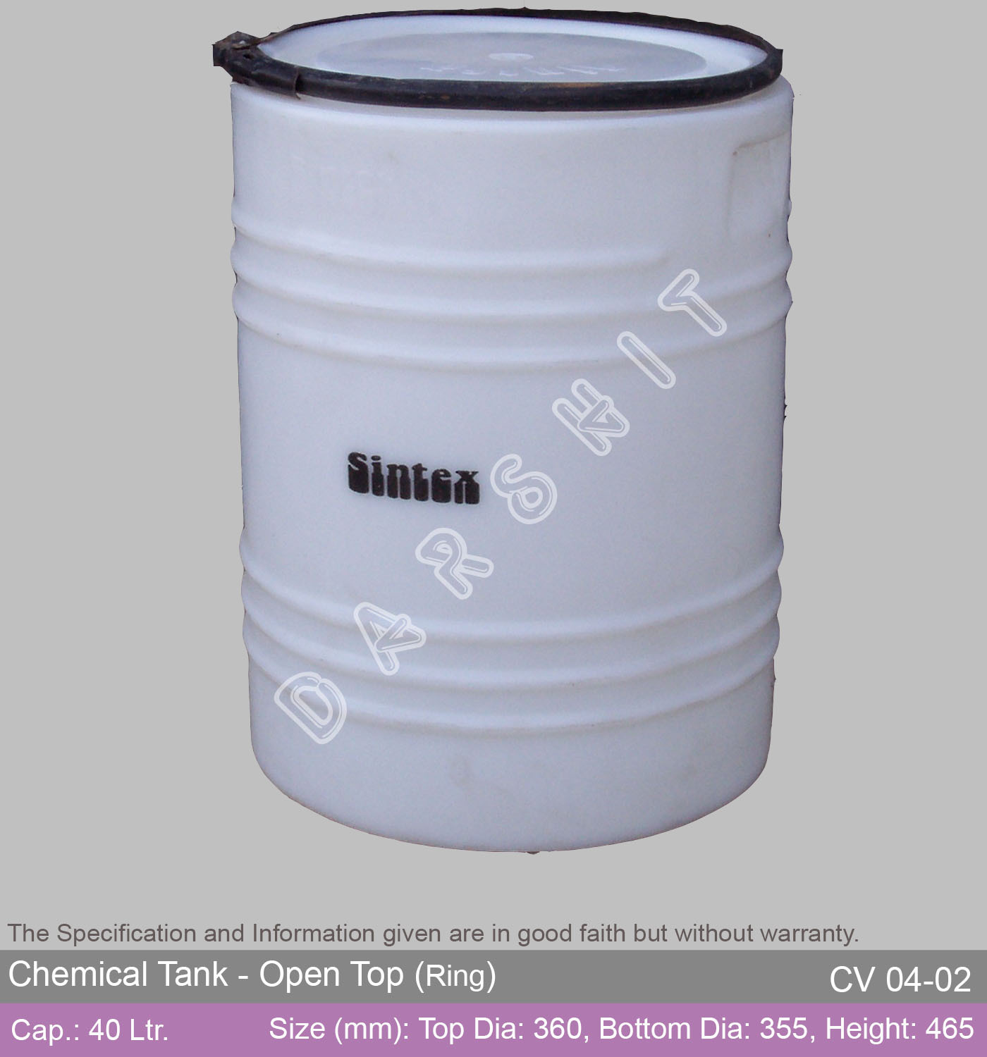 Sintex Open Top Chemical Storage Tank