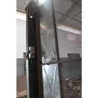 Hoist cage door