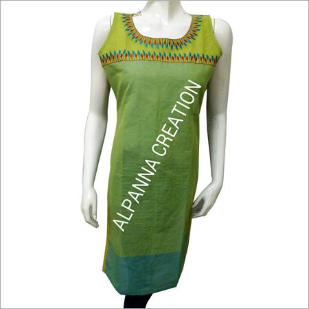 Green Ladies Summer Kurtis
