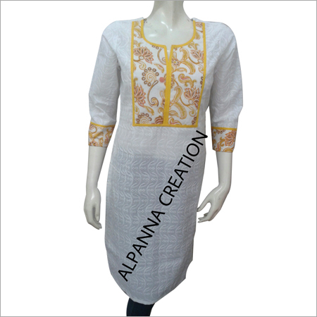 Embroidered Chikan Kurti