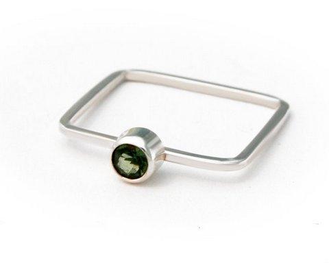 Green Amethyst Gemstone Ring