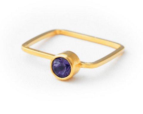 Amethyst Gemstone Ring
