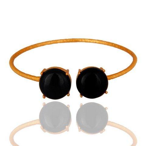 Black Onyx Gemstone Bracelet