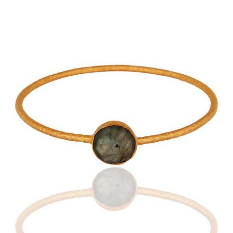 Labradorite Gemstone Bangle