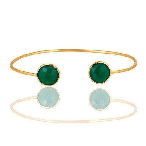 Green onyx Gemstone Bracelet