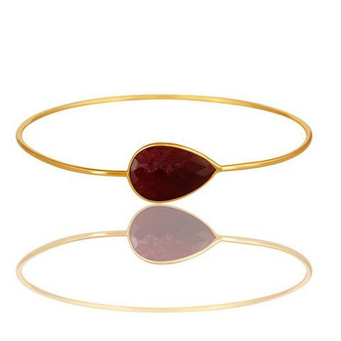 Dyed Ruby  Gemstone Bangle