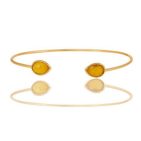 Yellow chalcedony Gemstone Bracelet