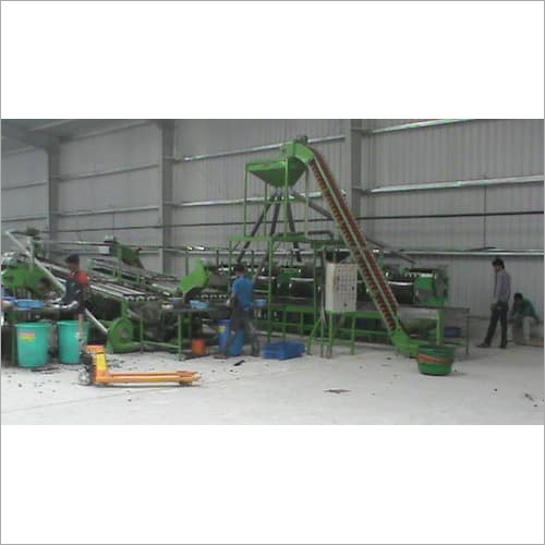 AUTOMATIC CASHEW PROCESSING SCOOPING LINE