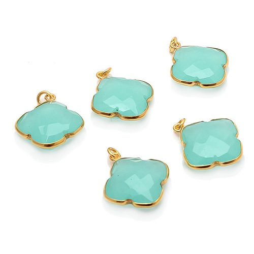 Aqua Chalcedony Gemstone Pendant