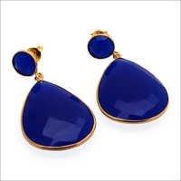 Blue Chalcedony Gemstone Earring