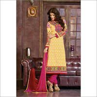 Designer Yellow salwar kameez Casual summer suit 106A
