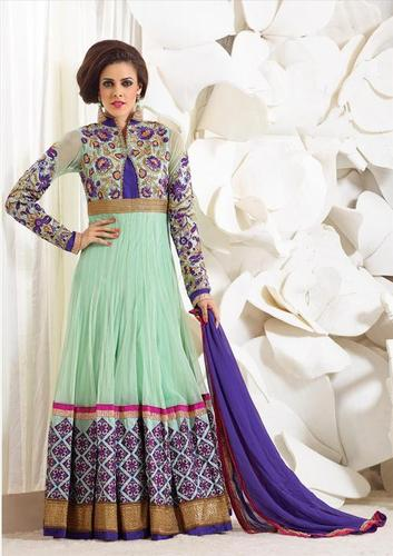Designer Light Green Heavy Party wear salwar kameez in budget bollywood Suit 2221