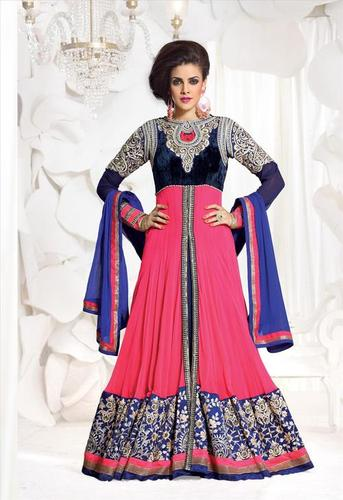 Girls Formal Classy Cream Indian Long Salwar kameez Latest Design 2222
