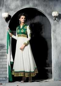 Ethnic White Long anarkali party wear suit 13006