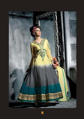 Gorgeous Multicolor salwar kameez Long Anarkali suit 13010