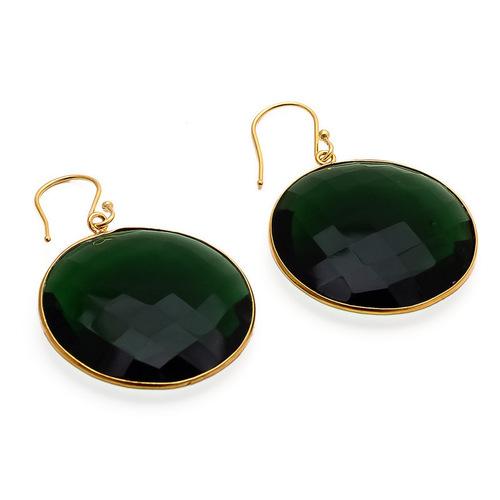 Hydro Emerald Gemstone Earring