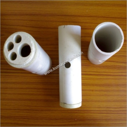 Refractory Muffle Tube with Center Hole and Plugs