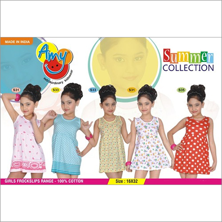 100% COTTON GIRLS FROCKSLIP - 16X32
