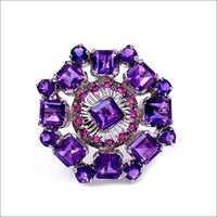 Amethyst & Ruby Quartz Gemstone Ring