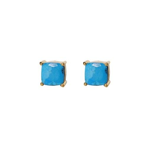 Turquoise Gemstone  Studs
