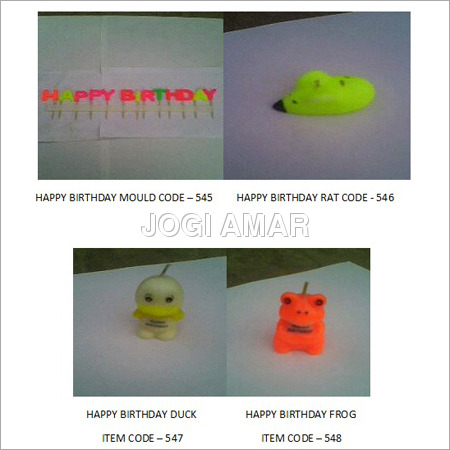 Birthday Candle Molds