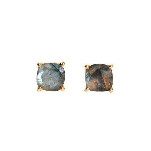 Labradorite Gemstone  Stud