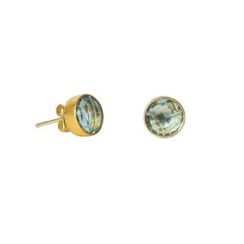 Blue Topaz Gemstone Studs