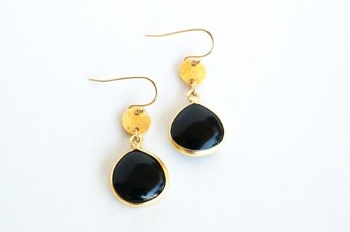 Black onyx Gemstone Earring