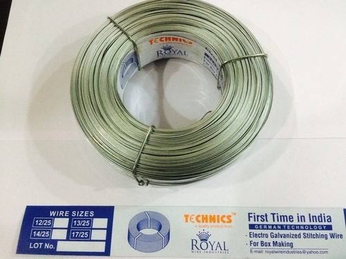 Electro Galvanized Stitching Wire