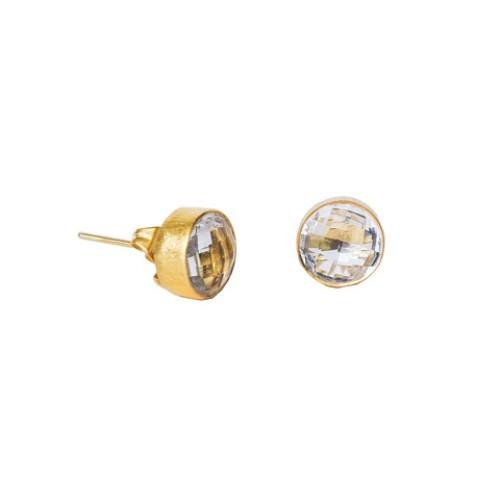 Crystal Gemstone Studs