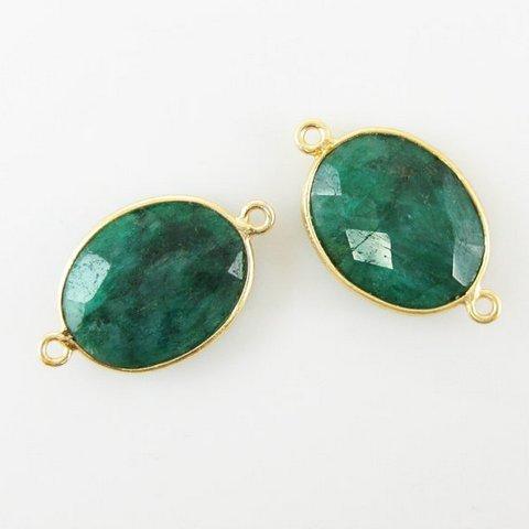 Dyed Emerald Gemstone Connector